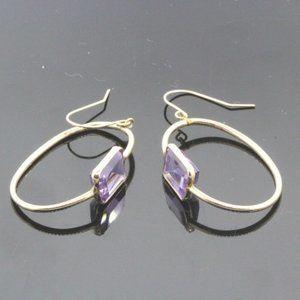 Jewelry - Women's 14k Gold Amethyst Hanging Earrings